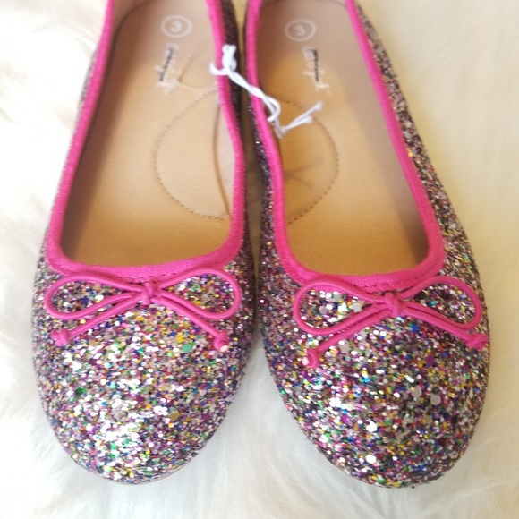 Cat & Jack Other - Girl's Cat and Jack Lesley Metallic Glitter Flats